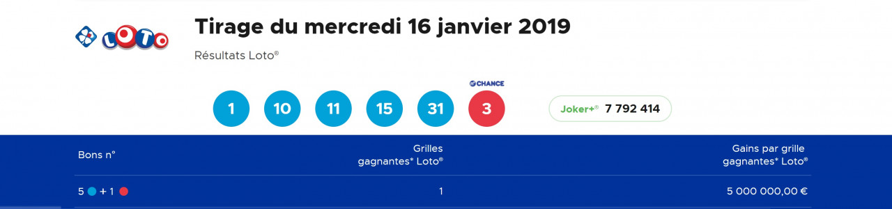 tirage loto 16 janvier gagnant doubs